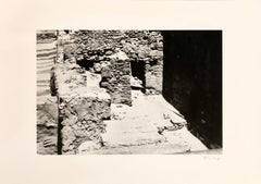 """Tunisian artist photographer """"In the footsteps of oblivion"""" B & W, Architecture"""
