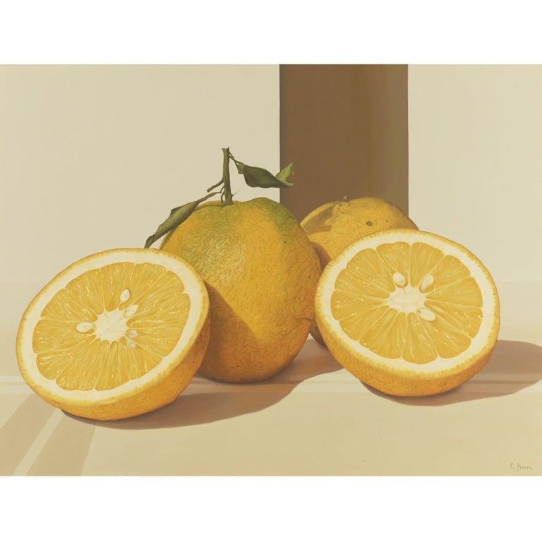 "Eduardo Bortk Figurative Painting - ""ORANGES"" Still-life oil on canvas"