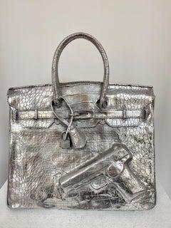 """Bag Birkin """"Jane Got a Gun""""  Sculpture Aluminium, signed 2020"""