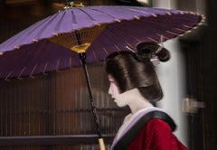 Geisha in the Rain (B) - Limited Editions of 15