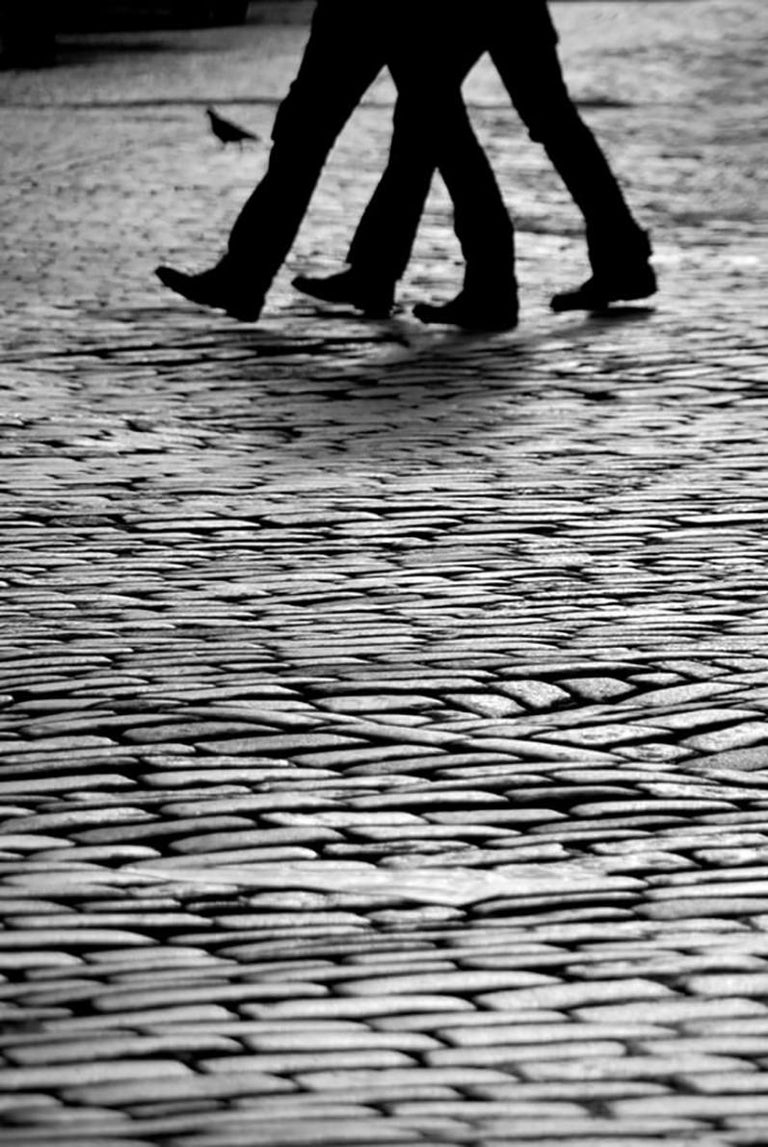 Viet Chu Black and White Photograph - Stepping Stones, NYC (Limited Edition of 25) - Street Photography