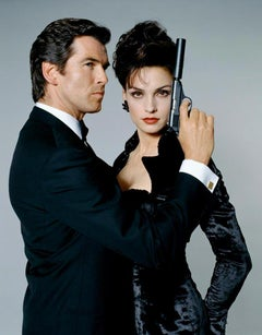 "Pierce Bronsan & Famke Janssen ""GoldenEye-James Bond"" (Limited Edition), 30x40"