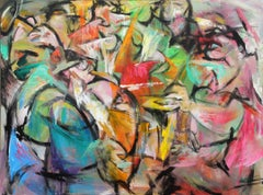 Joy-Painting, Colorful Figurative Abstract