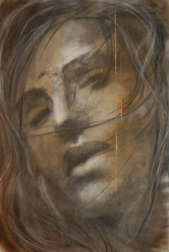 Summer Breeze-Painting, Charcoal, Acrylic, Oil, Expressionism, Faces