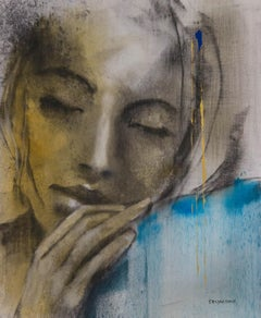 New Morning-Painting, Charcoal, Acrylic, Oil, Expressionism, Faces