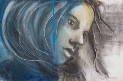 Faith - Painting, Mixed Media, Blue, Expressionism, Faces