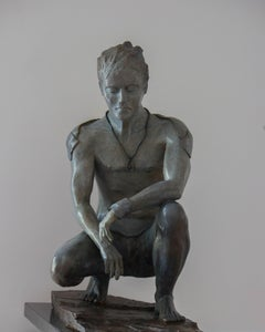 Le Gardien IV-Sculpture, Bronze, Limited Edition, Figurative