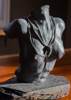 L'amoureuse, Nude Bronze Torso Sculpture