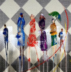 Untitled I, Very Fine Designer Textile, Original Painting,