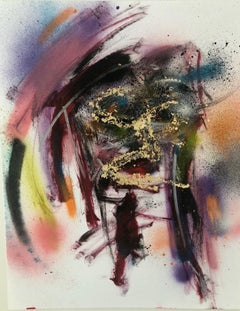 Cash is King, Mixed Media on Paper, Expressionist, Contemporary Faces