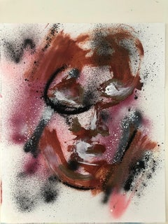 Untitled IV - Mixed Media on Paper, Expressionist, Contemporary Faces