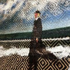 Textile Series II - Oil Painting, Hand Woven Textile, Figurative, Landscape