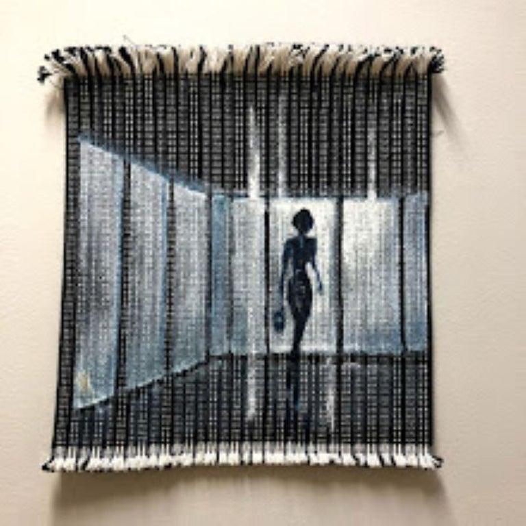 Mendel Samayoa Figurative Painting - Textile Series III