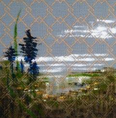 Textile Series V - Oil Painting, Hand Woven Textile, Landscape