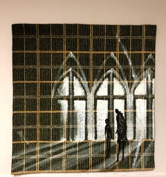 Textile Series VI - Oil Painting, Hand Woven Textile, Cathedral, Child