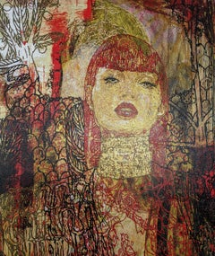 Judith – Textured Painting, Bold Colors, Femininity, Masculinity, Beauty, Danger