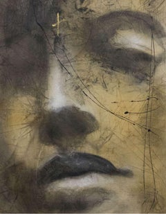 Morning Shade - Painting, Gold, Charcoal, Acrylic, Oil, Expressionism, Faces