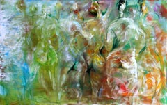 Untitled III - Painting, Figurative Abstract, Movement and Color by Tang