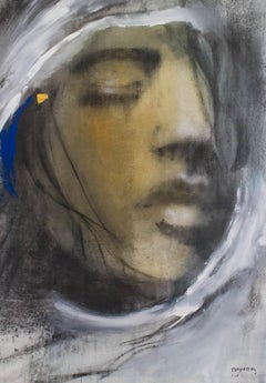 L'or - Painting, Charcoal, Warm Tones, Thoughtful, Faces by Desjardins