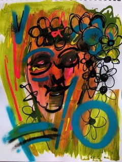 Blossom - Mixed Media on Paper, Spring Colors, Bold by Kaplan