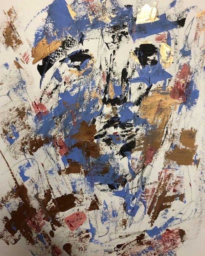 Painting on Paper, Expressive, Bright, Abstract - Consolidation by Paul Kaplan