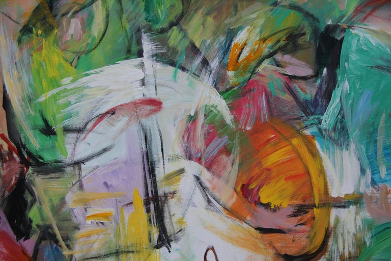 Painting, Musicians, Colorful Figurative Abstract - Play by Lei Tang For Sale 2
