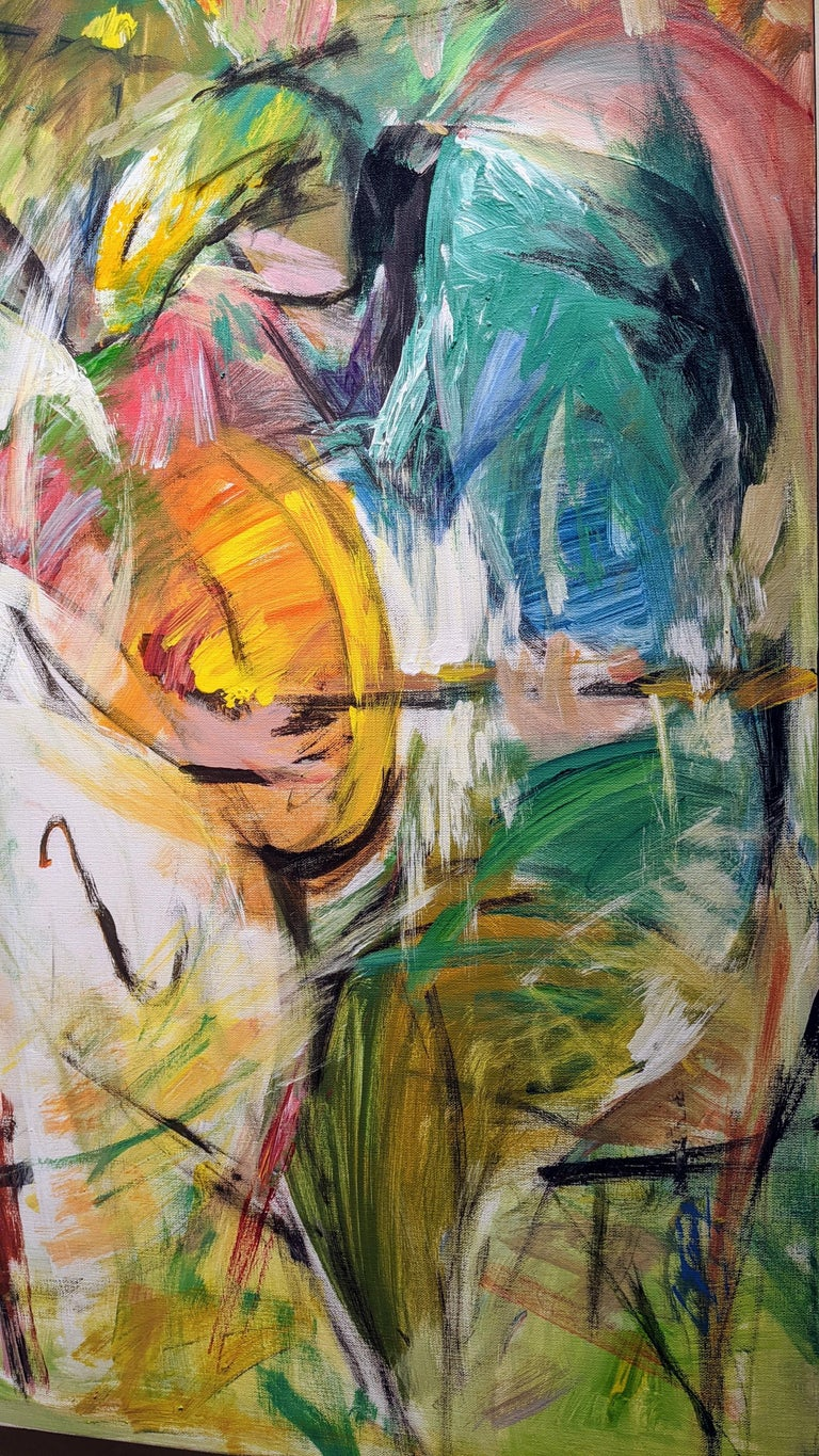 Painting, Musicians, Colorful Figurative Abstract - Play by Lei Tang For Sale 3