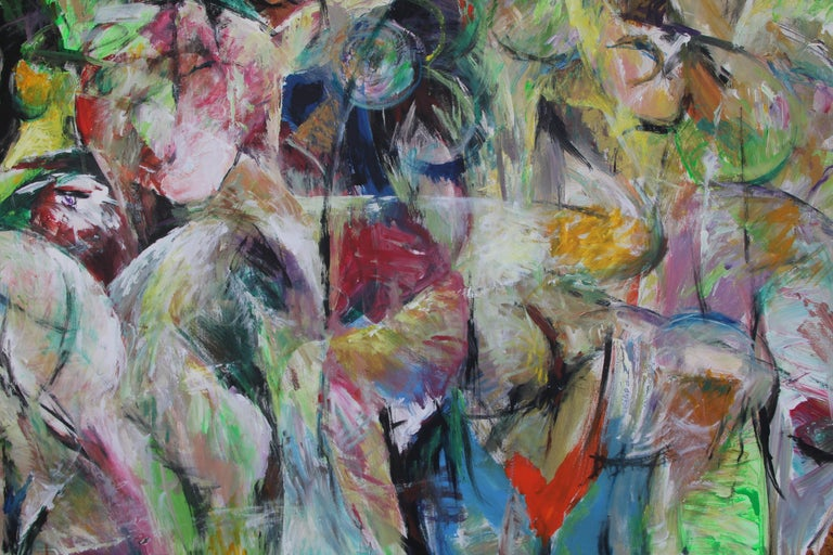 Painting, Bright Colors, Abstract, Expressive, Movement - 6.2019 by Lei Tang For Sale 2