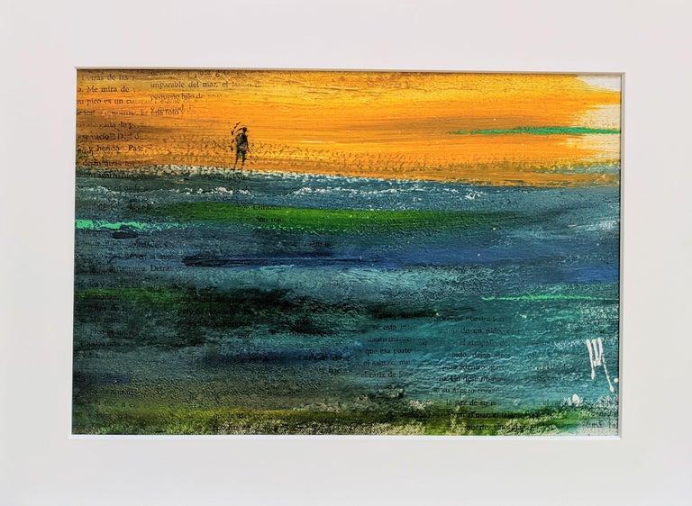 Mendel Samayoa Landscape Painting - Deserito - Painting, Landscape, Textured, Warm Colors