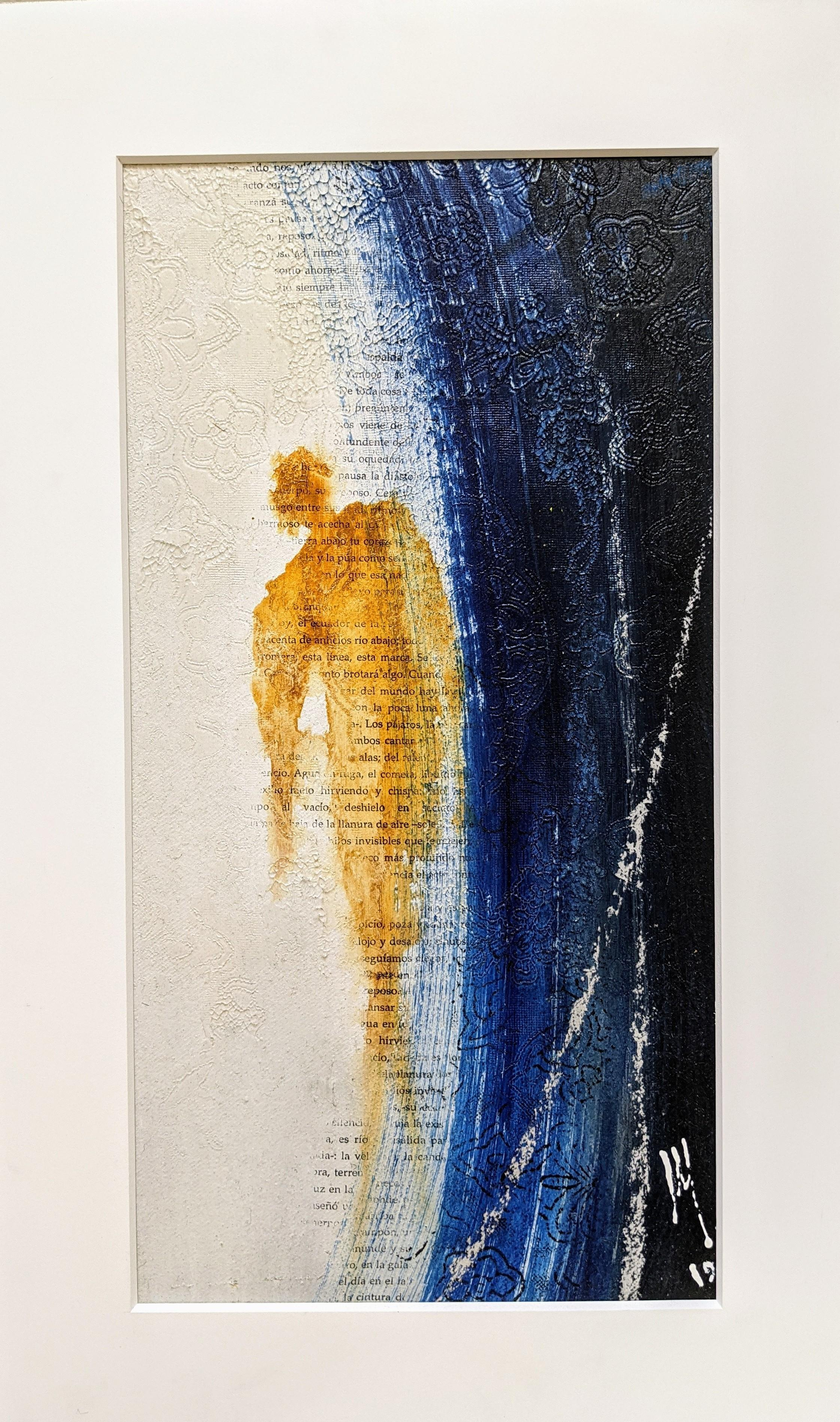 Mine – Painting, Mixed Media, Bold Colors, Expressionism, Figurative, Poetry