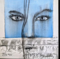 Etude 52 - Painting, Charcoal, Acrylic, Oil, Expressionism, Faces