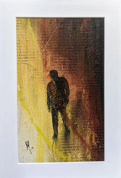 Sombra - Painting, Oil, Poetry, Figurative, Abstract, Earth Colors