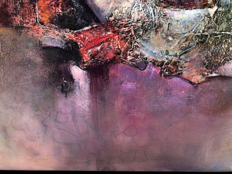Original painting by artist, Elisa Valerio.  Textured abstract, acrylic on canvas. Artwork is gallery wrapped, signed lower right and ready to hang. Size is unframed.   Elisa Valerio has been paintings for decades and describes her work as having