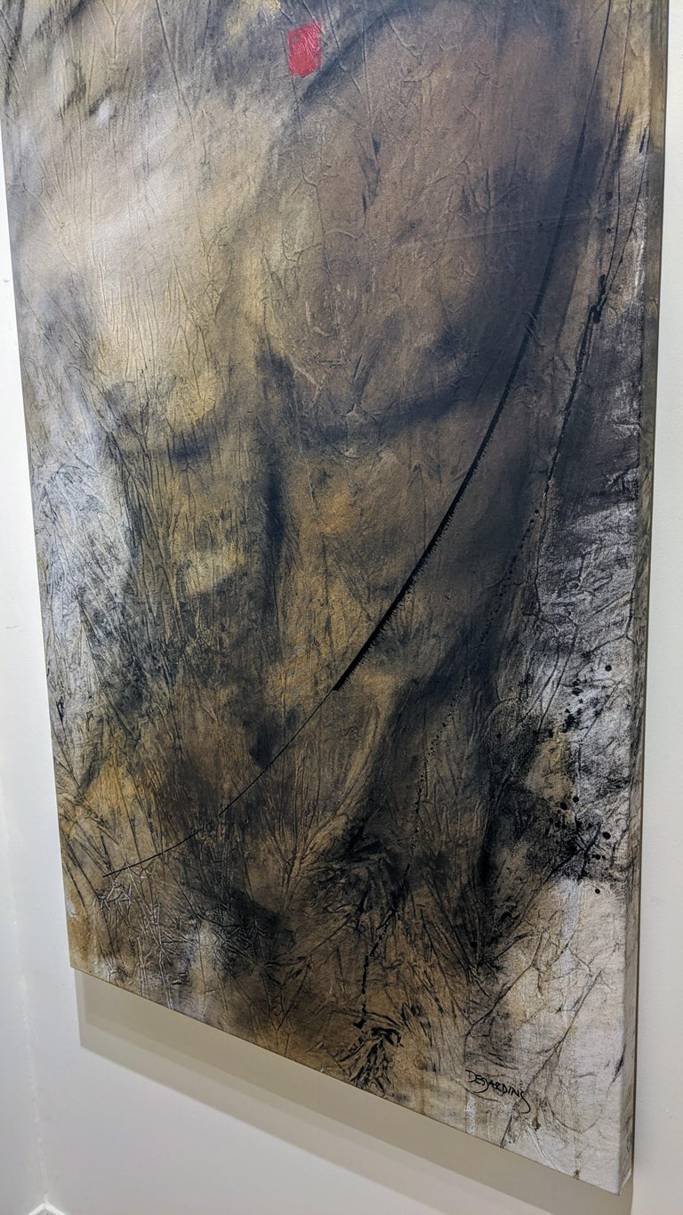 Painting, Mixed Media, Earth Tones, Nude, Male, Eden's Creation by Desjardins  For Sale 2