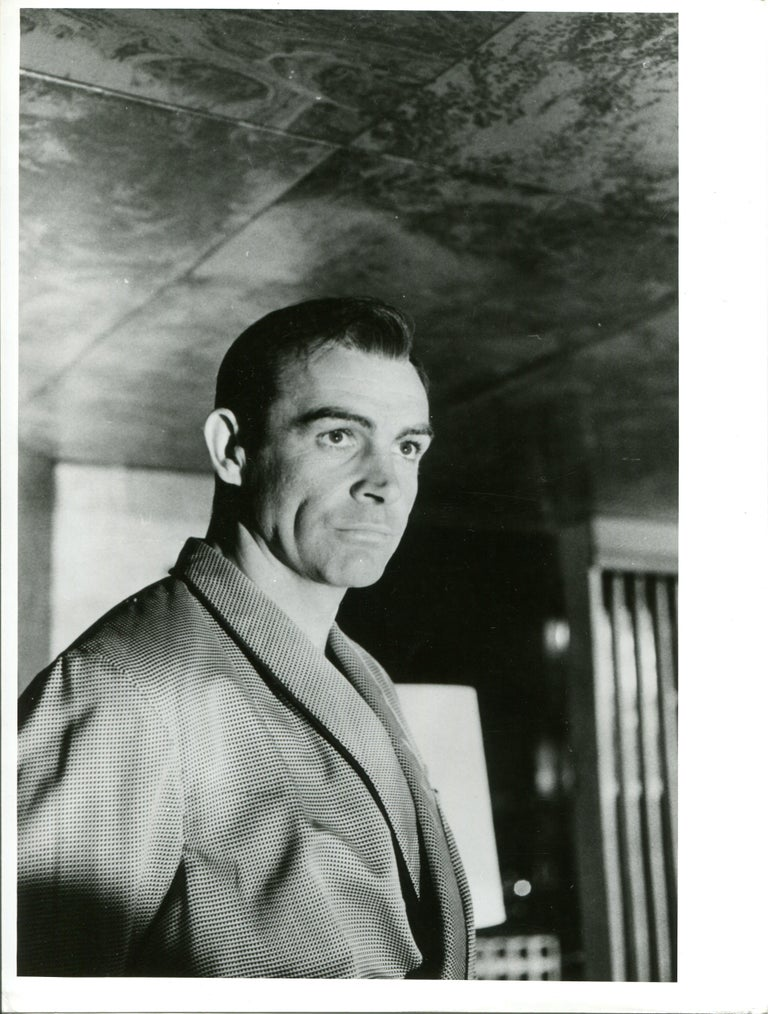 "Henri Elwing  Black and White Photograph - Sean Connery as James Bond in ""Nr. No"""