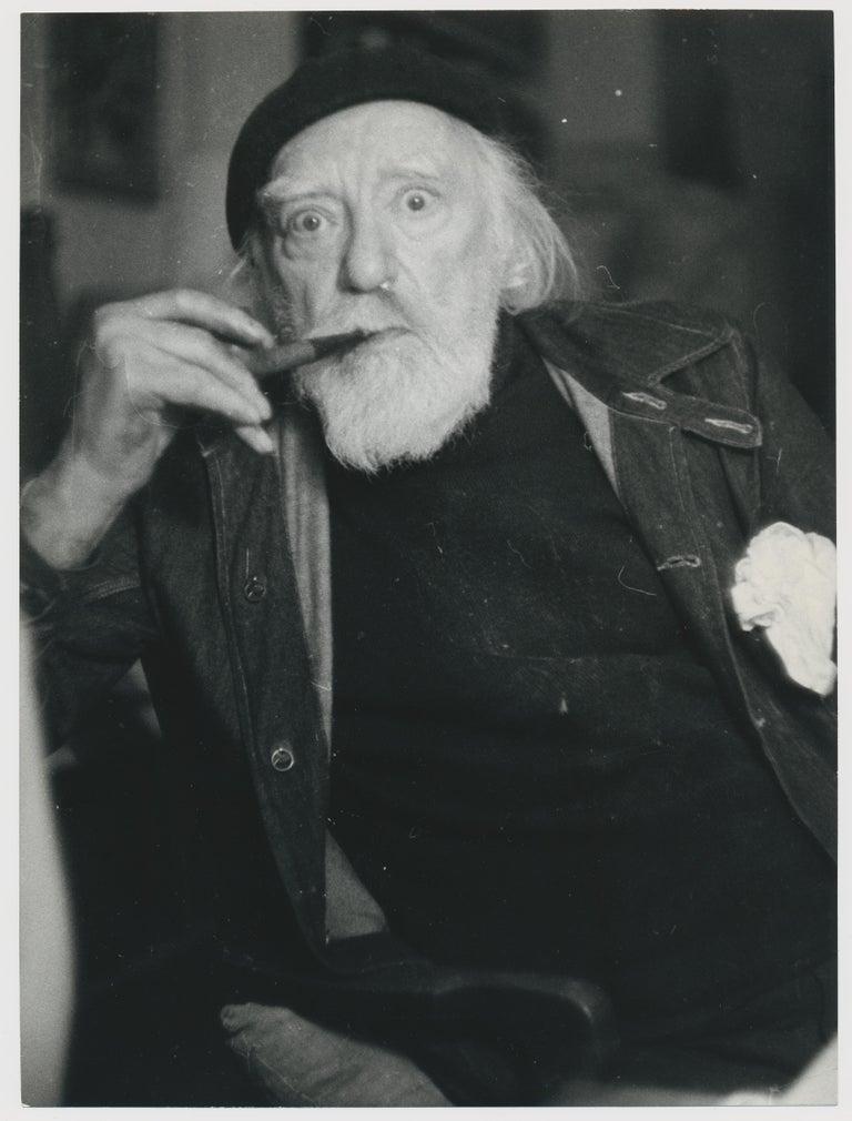 Allan Gordon Chappelow Black and White Photograph - Portrait of painter Augustus John, by Allan Chappelow, England 1953.