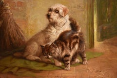 """""""Making Friends"""" Oil painting by John Fitz Marshall"""