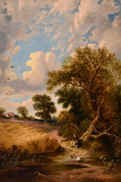 """A Cornfield"" Oil Painting by James Edward Meadows"