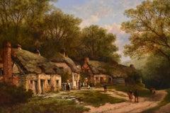 """""""Cottages at Toddenham Worcestshire"""" by William Pitt"""