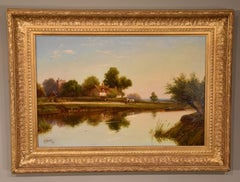 """""""Tranquil Day by the River"""" Oil Painting by Robin Fenson"""