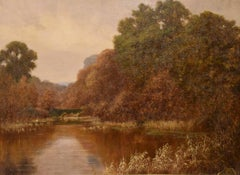 """Oil painting by George C Ransom """"A Surrey landscape"""""""