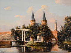"""Oil Painting by George Jan Dispo """"Old Amsterdam"""""""