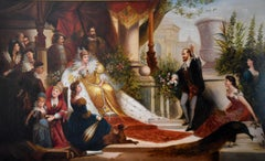 """Oil Painting by Jack Leigh Wardleworth """"Sir Walter Raleigh regaling Queen Elizab"""