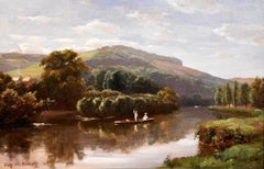 """""""Quiet sketch of the Thames"""" by Fritz Von Kemptz"""