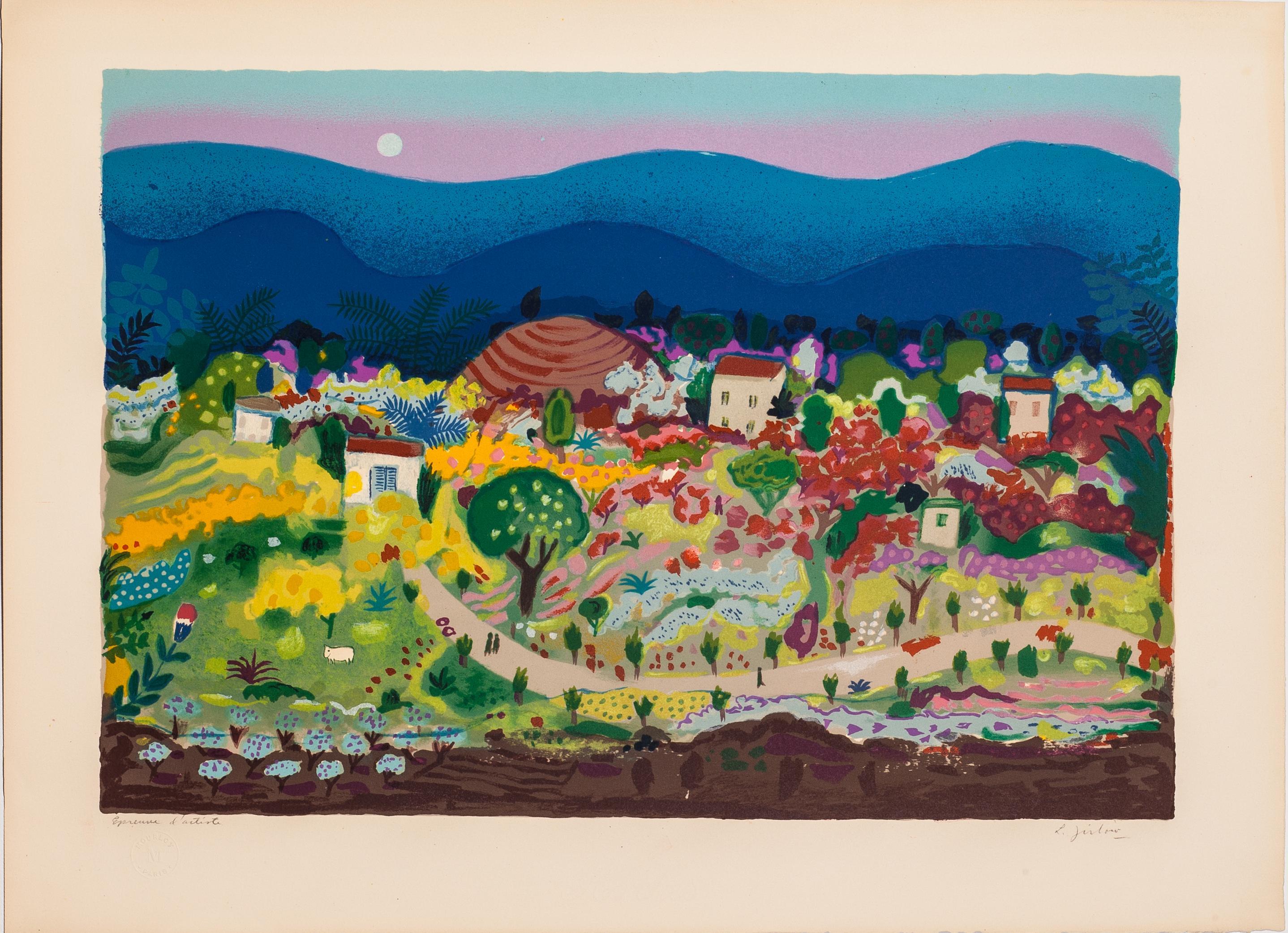 Da blå bergen (blue mountains) by Lennart Jirlow