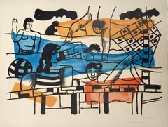 "La Piscine (The Pool) From the Series ""La Ville"" by Fernand Leger"
