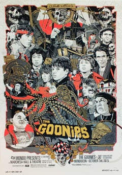 The Goonies, Tyler Stout, Contemporary Street Art Movie Print