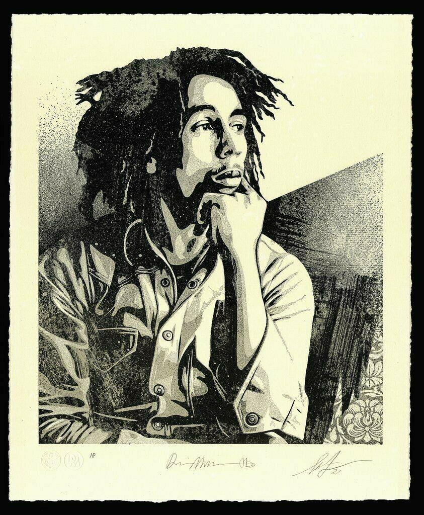 Bob Marley 40th 1 Soul Rebel Signed & Numbered Letterpress OBEY Shepard Fairey