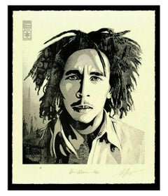Bob Marley 40th Confrontation Signed & Numbered Letterpress OBEY Shepard Fairey