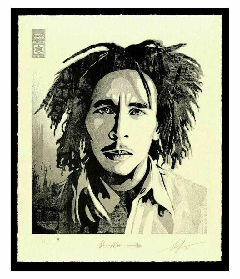Bob Marley 40th Confrontation Signed & Numbered Letterpress OBEY Shepard Fairey  - Art by Shepard Fairey